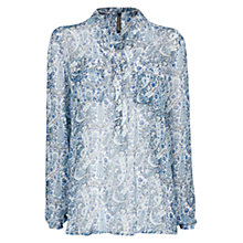 Buy Mango Paisley Print Blouse, Medium Blue Online at johnlewis.com