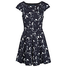 Buy French Connection Hatched Horsed Capped Sleeve Dress Online at johnlewis.com