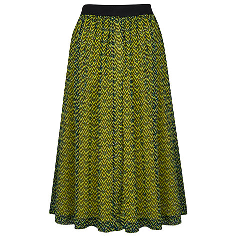 Buy French Connection Chevron Print Skirt, Sulphur Multi Online at johnlewis.com