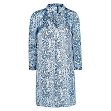 Buy Mango Paisley Satin Dress, Medium Blue Online at johnlewis.com