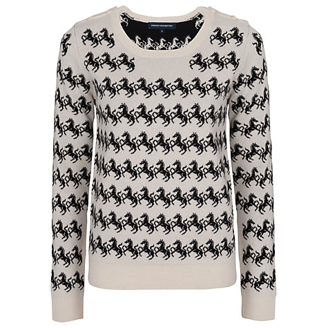 Buy French Connection Horse Print Jumper, Black Online at johnlewis.com
