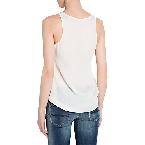 Buy Mango Eagle Studded Top, Natural White Online at johnlewis.com
