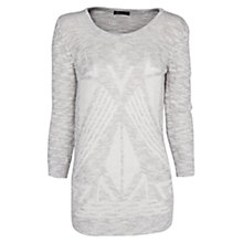 Buy Mango Cotton Jumper, White Online at johnlewis.com