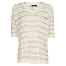 Buy Mango Striped Jumper, Natural White Online at johnlewis.com