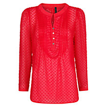 Buy Mango Plumetti Blouse, Medium Pink Online at johnlewis.com
