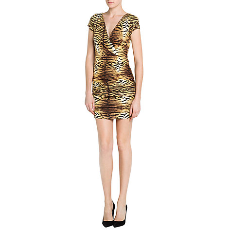 Buy Mango Animal Print Dress, Medium Brown Online at johnlewis.com