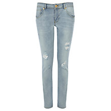 Buy Warehouse Distressed Boyfriend Jeans, Bleach Denim Online at johnlewis.com