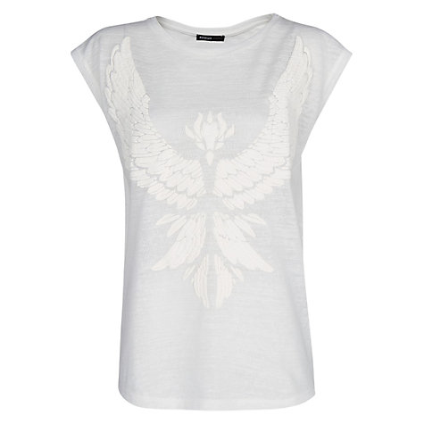 Buy Mango Eagle T-Shirt, Natural White Online at johnlewis.com