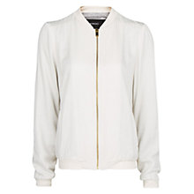 Buy Mango Bomber Jacket, Natural White Online at johnlewis.com