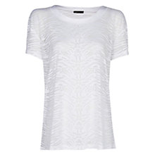 Buy Mango Animal Devore T-Shirt, White Online at johnlewis.com