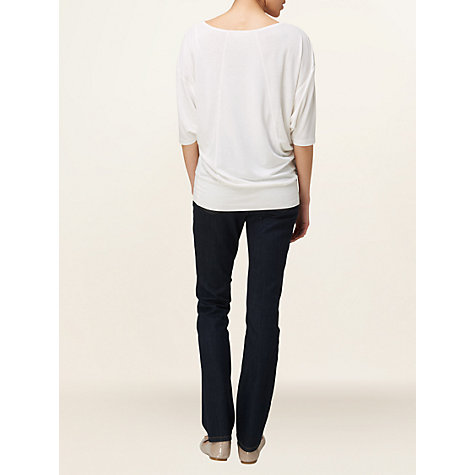 Buy Phase Eight Lillian Jersey Top, Ivory Online at johnlewis.com