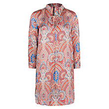 Buy Mango Paisley Satin Shirt Dress, Bright Red Online at johnlewis.com