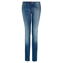 Buy Mango Slim Fit Vintage Wash Jeans, Dark Blue Online at johnlewis.com