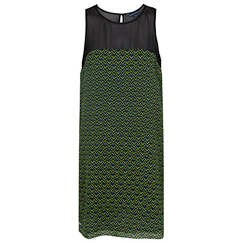 Buy French Connection Chevron Shift Dress, Sulphur Multi Online at johnlewis.com