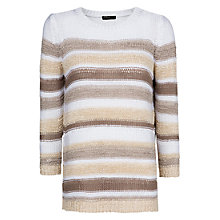 Buy Mango Open Knitted Jumper, Light Beige Online at johnlewis.com