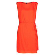 Buy Mango Shift Tie Dress, Bright Orange Online at johnlewis.com