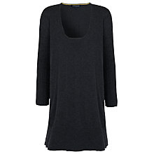 Buy French Connection Chopin Knitted Dress, Dark Charcoal Online at johnlewis.com