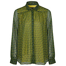 Buy French Connection Chevron Shirt, Sulphur Multi Online at johnlewis.com