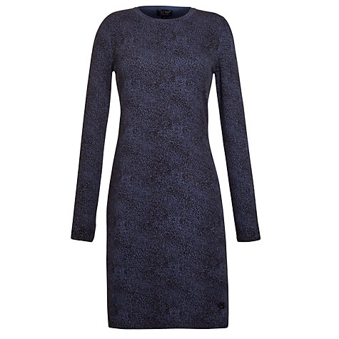 Buy Armani Jeans Leopard Print Jumper Dress, Blue Online at johnlewis.com