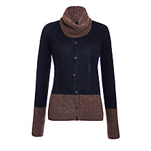 Buy Armani Jeans Colour Block Snood Cardigan, Black Online at johnlewis.com