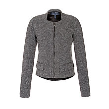 Buy Armani Jeans Zip Tweed Jacket, Grey Online at johnlewis.com