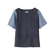 Buy Toast Contrast Pocket Top, Dark Navy Online at johnlewis.com