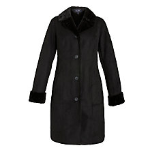 Buy Armani Jeans Faux Shearling Coat, Black Online at johnlewis.com
