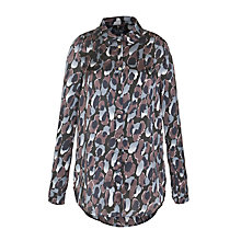 Buy Armani Jeans Print Shirt, Black Online at johnlewis.com