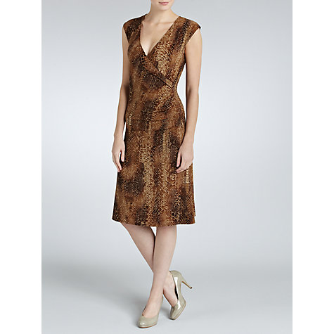Buy Lauren by Ralph Lauren Cap Sleeve Faux Wrap Dress, Multi Online at johnlewis.com