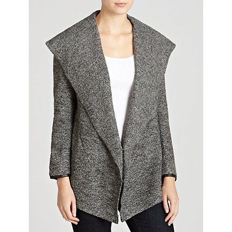 Buy CHARLI Gracie Waterfall Jacket, Charcoal Online at johnlewis.com
