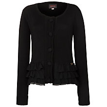 Buy Avoca Fay Frill Cardi, Black Online at johnlewis.com