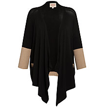 Buy Avoca Anthology Bethany Colour Block Cardigan, Black/Sand Online at johnlewis.com