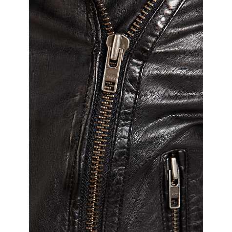 Buy Muubaa Nido Quilted Biker Jacket, Black Online at johnlewis.com