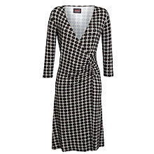 Buy Avoca Anthology Abigail Wrap Dress, Black Online at johnlewis.com