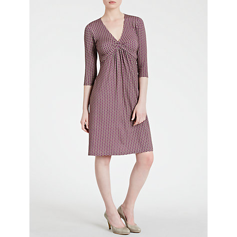 Buy Avoca Anthology Printed Knot Dress, Amethyst Online at johnlewis.com