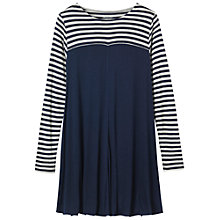 Buy Toast Jersey Stripe Block Tunic Top, Ink Blue Online at johnlewis.com