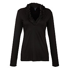 Buy Armani Jeans Ruffle Jersey Top Online at johnlewis.com