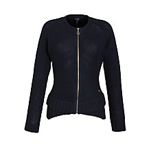Buy Armani Jeans Zip Through Cardigan, Navy Online at johnlewis.com