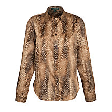 Buy Lauren by Ralph Lauren Python-Print Cotton Shirt, Multi Online at johnlewis.com