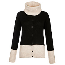 Buy Armani Jeans Snood Colour Block Cardigan, Black Online at johnlewis.com