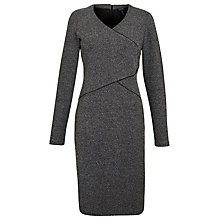 Buy Armani Jeans Tweed Panel Dress, Grey Online at johnlewis.com