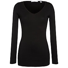 Buy Charli Long Sleeve V-Neck Top, Black Online at johnlewis.com
