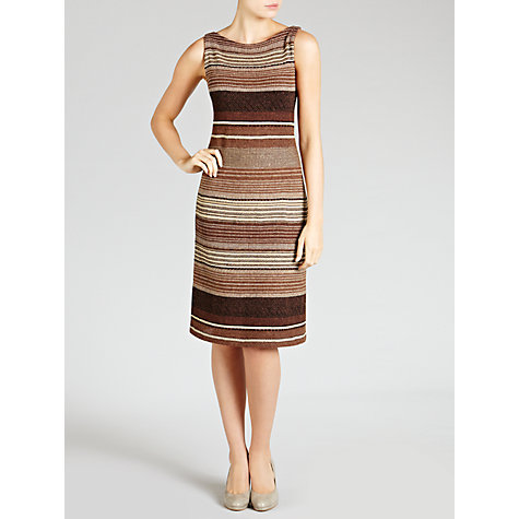 Buy Lauren by Ralph Lauren Striped Cotton & Linen Dress, Multi Online at johnlewis.com
