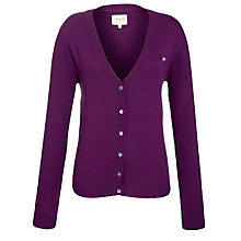 Buy Avoca Prufrock Silk Back Cardigan, Amethyst Online at johnlewis.com