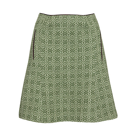 Buy Avoca Annie Jacquard Skirt, Green Online at johnlewis.com