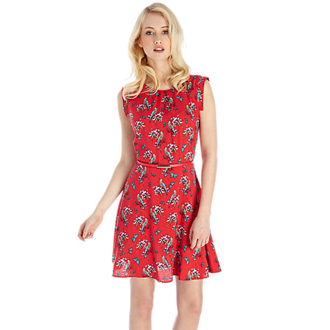 Buy Oasis Bird Dress, Coral Online at johnlewis.com