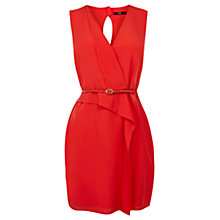 Buy Oasis Suri Drape Dress, Coral Online at johnlewis.com