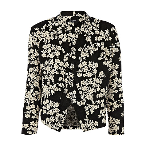 Buy Warehouse Oriental Jacquard Jacket, Navy Online at johnlewis.com