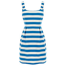 Buy Oasis Riri Flared Dress, Blue Online at johnlewis.com