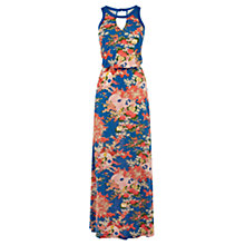 Buy Oasis Amori Bay Maxi Dress, Blue Multi Online at johnlewis.com